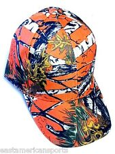 Camouflage Camo Hardwoods White Bark Real Tree Orange Snow Hat Cap Hunting Fish