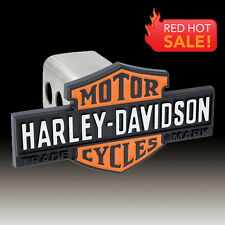 Harley-Davidson Orange & Black Vintage Bar & Shield Trailer Tow Hitch Cover Plug