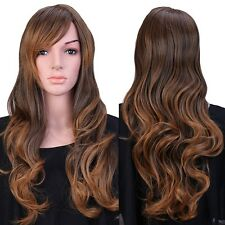 Synthetic Hair Wig Curly Straight Cosplay Costume Party Fancy Dress Natural Look