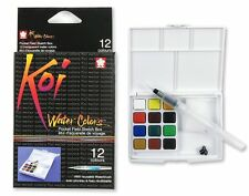 Sakura Koi Watercolour Paint 12 Colours with Brush Sketch Set XNCW-12H Drawing