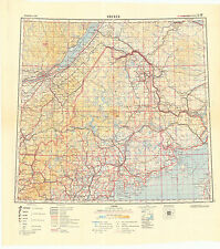 Russian Soviet Military Topographic Maps - QUEBEC (Canada), 1:1 000 000, ed.1949