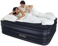 Intex Raised Air Mattress Bed Inflatable Blow Up Queen Airbed Full Size Pump
