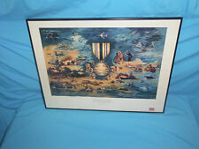 """Coors Salutes the Victors"" Operation Desert Storm Gulf War Poster Limited 150"