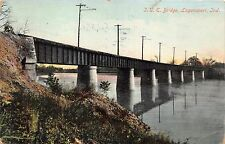 LOGANSPORT INDIANA UNION TRANSPORT COMPANY~U.T.C.~BRIDGE POSTCARD 1909