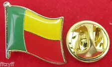 Benin Country Flag Lapel Hat Cap Tie Pin Badge Brooch Republic Porto-Novo
