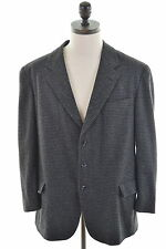 ENRICO COVERI Mens 3 Button Blazer Jacket Size 42 Large Black Houndstooth Wool