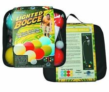 Bocce Ball Set Glow In The Dark Bag 100mm For Kids Lighted Up Outdoor Lawn Games