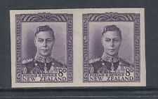 New Zealand SG 684 MNH. 1947 8p KGVI imperf pair