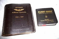 LOT OF 2 JEPPESEN AIRWAY MANUAL CALIFORNIA AND FLIGHT GUIDE WESTERN STATES