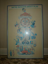 Seymour Chwast We're Serious About Play Poster Professional Frame VGC