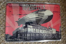 Led Zeppelin 2 Album Design Tin Metal Sign Painted Poster Comics Book Wall Art