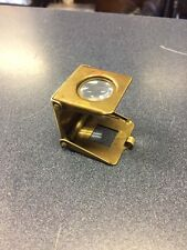 Antique Brass German Folding Pocket Loupe Magnifier Marked IpI