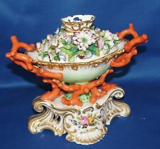 Jacob Petit 19th Century French Potpourri Porcelain Coral flower decoration