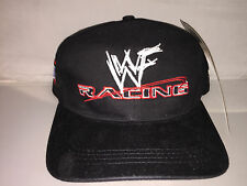 Vtg WWF Racing Strapback hat cap rare 90s WWE Wrestling wrestlemania the rock
