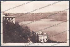 ROMA CASTEL GANDOLFO 09 LAGO - VILLE Cartolina viaggiata 1930