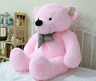 Lovely Stuffed Giant 95CM Big Pink Plush Teddy Bear Huge Soft 100% Cotton Doll