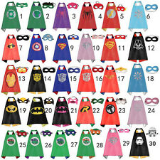 Wholesale 15 sets Superhero Cape Superman Batman Spiderman Batgirl for kids Xmas