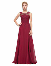 New Elegant Long Chiffon Wedding Formal Evening Party Bridesmaid Ball Gown Dress