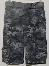 English Laundry Cargo Shorts w Belt Boy's Size 6 Grey Camo NWT $48