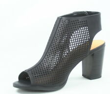 Women's Peep Toe Slingback Perforated Chunky Heel  Sandals Shoes Size 6 -11 NEW