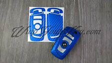 Blue Carbon Fiber BMW Key Sticker Decal Overlay 3 Series F30 F31 F34 F35 F80 M3