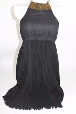 STRADIVARIUS BLACK HALTERNECK DRESS SIZE L LARGE REF 7272/154