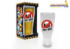 """ONLY BEER"" EROTIC FUNNY RUDE CHEEKY HARDCORE BEER PINT GLASS BIRTHDAY PRESENT"