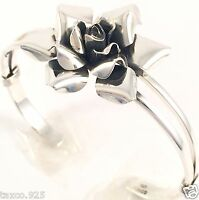 TAXCO MEXICAN STERLING SILVER FLORAL FLOWER CUFF BRACELET MEXICO