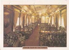 TRAINS DE LEGENDE - VOITURE-SALON DU SUD-EXPRESS -  FICHE / FEUILLE CLASSEUR