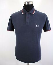 "Mens FRED PERRY Polo shirt, Size M 46"" , short sleeve, navy blue cotton BL1714"