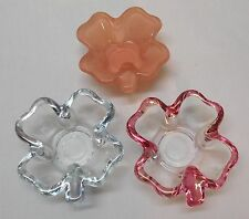 Four Leaf Clover Glass Small Bowls Trinket Candy Dish Ashtray Condiment Set 3