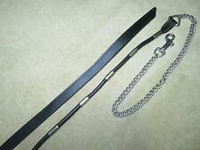GUC~Lovely Good Quality Black ROLLED POCO STYLE Ferruled Lead Line Shank w/Chain