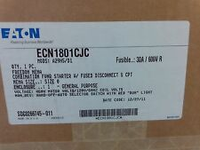 Eaton Combination FVNR Starter w/ fused disconnect & CPT30A #ECN1801CJC #1B-1007