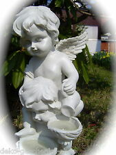 Solar LED light Garden 2 Angel Grave candle Cemetery Poly Angel figure RGB 228