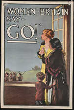 Women of Britain Say Go, First World War Recruiting Poster 7x5 inches Repro
