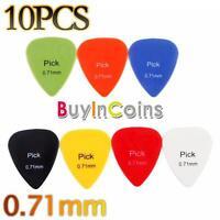 10 PCS Smooth Nylon 0.71mm Guitar Picks Plectrums Colorful Dute Useful