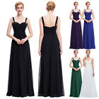 New Design Straps Ruched Long Chiffon bridesmaid Evening party Formal Gown Dress