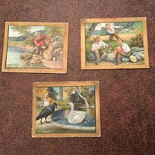 Three Turkish Trophies Cigarettes Fable Series Trading Cards
