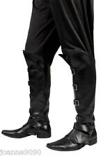 Homme noir médiéval steampunk pirate fancy dress costume shoe boot top couvre bn