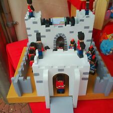 Large very Strong handmade wooden fort / castle with soldiers