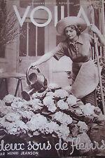 REPORTAGES PHOTOS VOILA 1934 TENNIS SATOH FLEURS LE DOCTEUR LOCARD LA PROVENCE