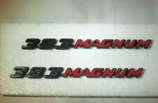 2   Dodge 383 Magnum Metal Name Plate Body Emblem 70-71  Mopar  Part 2998801