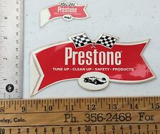 Set Of 2 Vintage Prestone Racing Stickers. Original And Hard To Find. NOS. Rare!