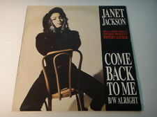 """JANET JACKSON ~ COME BACK TO ME ~ LIMITED EDITION POSTER CALENDAR 12"""" LP UNUSED"""