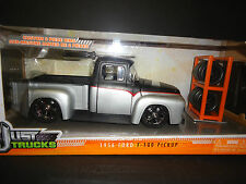 Jada Ford F100 1956 Just Trucks Matt Black and Silver 1/24