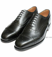 *NEW* Trickers Kensington England Black Brogue Oxford Goodyear Welted Shoes UK 9