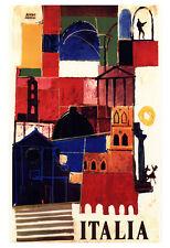Vintage Italian Travel Poster, Italia, Rome, Sicily, Tuscany, Palermo, Italy