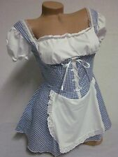 DOROTHY PEASANT TOP/APRON DRESS HALLOWEEN COSTUME-JUNIORS SMALL-Final Sale!