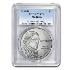 1993-D Bill of Rights $1 Silver Commemorative Coin - MS-69 PCGS - SKU #22120