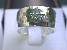 Original Kabbalah Name Ring 3 in 1 Healing Protection Freedom, Silver with Gold